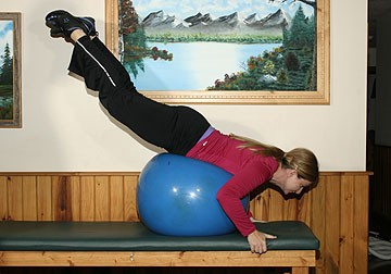Exercise Ball Hyperextensions